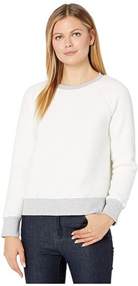 Vineyard Vines Sherpa Crew Neck Pullover (Marshmallow) Women's Clothing