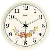 "LTYGZ Living room bedroom wall clock mute stylish garden art wall clock creative night light resin wall clock C028,10"", -028"
