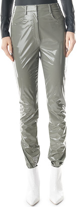 Tibi Tech Patent Skinny Trousers