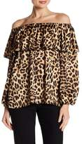 Vince Camuto Off-the-Shoulder Leopard Print Blouse