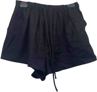 Sir. Black Cloth Shorts