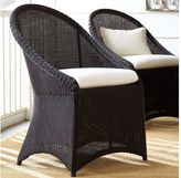 Pottery Barn Palmetto All-Weather Wicker Dining Chair - Black