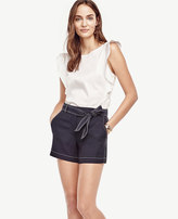 Ann Taylor Petite Belted High Waist Shorts