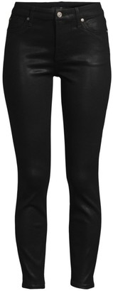 7 For All Mankind High-Rise Coated Skinny Jeans
