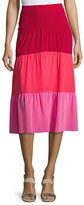 Peter Pilotto Colorblock Paneled Midi Skirt, Pink