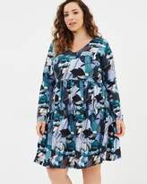 Smock Dress in Collage Floral Print