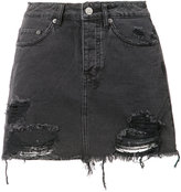 Ksubi frayed denim skirt - women - Cotton - 28