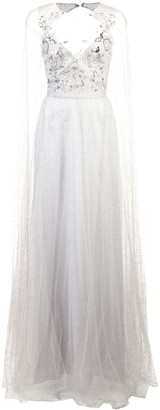 Marchesa Long Empire Line Dress