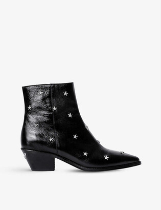 Zadig & Voltaire Tyler star-embellished leather cowboy boots