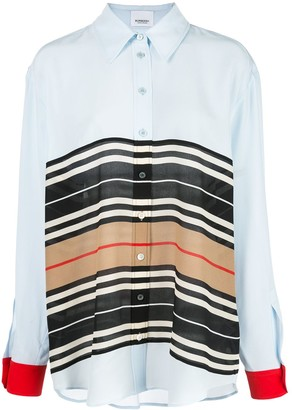 Burberry Icon Stripe oversized shirt