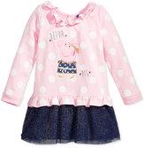 Nickelodeon Nickelodeon's Peppa Pig Long-Sleeve Polka-Dot Dress, Toddler & Little Girls (2T-6X)