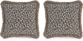 Miles Talbott Collection S/2 Amur Leopard 19.5x19.5 Pillows, Gray