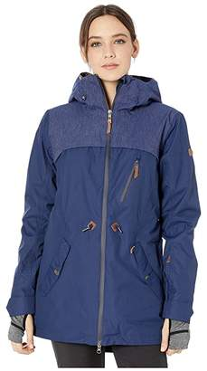 Roxy Stated Snow Jacket (Medieval Blue) Women's Coat