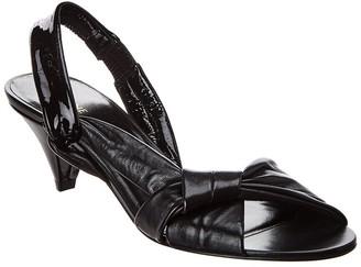 Celine Triangle Heel Twisted Strap Leather Sandal