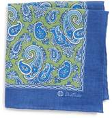 David Donahue Paisley Linen Pocket Square