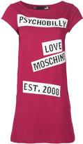 Love Moschino statement print T-shirt dress