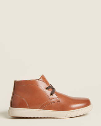Florsheim Kids Boys) Cognac Curb Leather Chukka Sneakers
