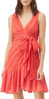 Rebecca Taylor Sleeveless Striped Wrap Dress