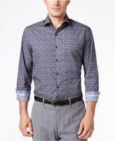 Tasso Elba Men's Big and Tall Print Long-Sleeve Shirt, Classic Fit