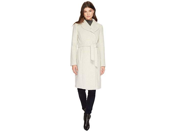 Cole Haan Belted Asymmetrical Coat w/ Shawl Collar Women's Coat