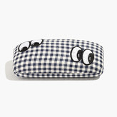 Madewell Embroidered Sunglass Case in Gingham