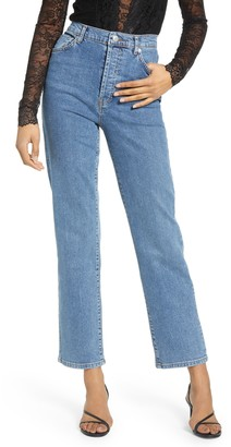 NA-KD High Waist Straight Leg Jeans