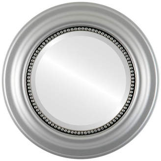 """The Oval And Round Mirror Store Heritage Framed Round Mirror in Silver Spray, 29""""x29"""""""