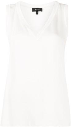 Theory sleeveless V-neck blouse