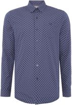 Peter Werth Mosaic Grid Print Shirt