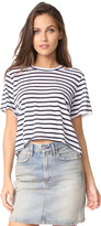 LnA Stripe Cutout Crop Tee