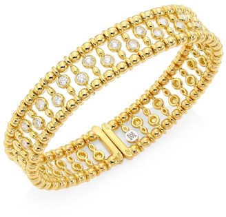 Brera Via 18K Yellow Gold & Diamond Bangle Bracelet