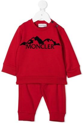 Moncler Enfant Flocked Logo Graphic Tracksuit