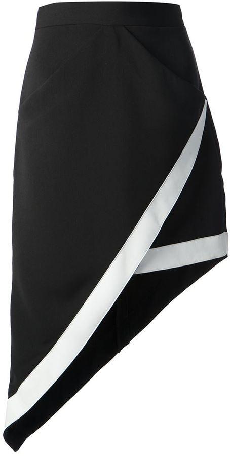 David Koma structured wrap skirt