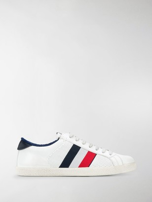 Moncler Striped Low-Top Sneakers