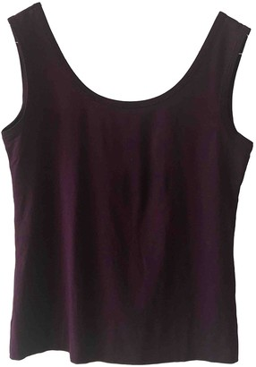 Jil Sander Purple Silk Tops