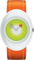 Alessi Kids' AL20003 Millennium Jr. Orange Strap with Bird Watch