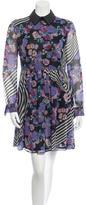 Karen Walker Floral Print Silk Dress