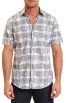 Robert Graham Venire Overlapping-Square Sport Shirt, White Pattern