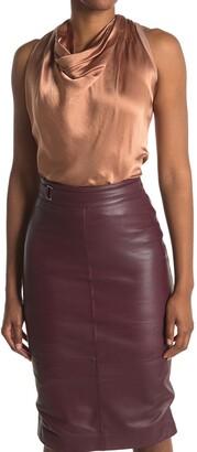 Reiss Lita Cowl Neck Sleeveless Silk Blend Top