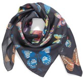 Echo Women's Butterfly Print Silk Square Scarf