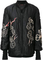 Ermanno Scervino embroidered bomber jacket