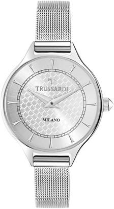 Trussardi Women's T Queen Analog-Quartz Stainless-Steel Strap Silver 16 Casual Watch (Model: R2453122504)