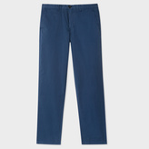 Paul Smith Men's Tapered-Fit Washed Navy Garment-Dye Pima-Cotton Stretch Chinos