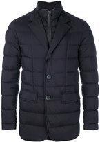 Herno padded button-down coat - men - Feather Down/Polyamide/Polyurethane/Virgin Wool - 48