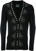 Laneus studded V-neck cardigan