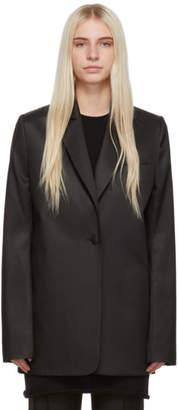 Marina Moscone Black Oversized Boyfriend Blazer