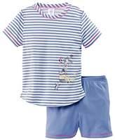 Calida Girl's Ocean Sweetie Kurz Pyjama Set,(Manufacturer Size: 80 cm)