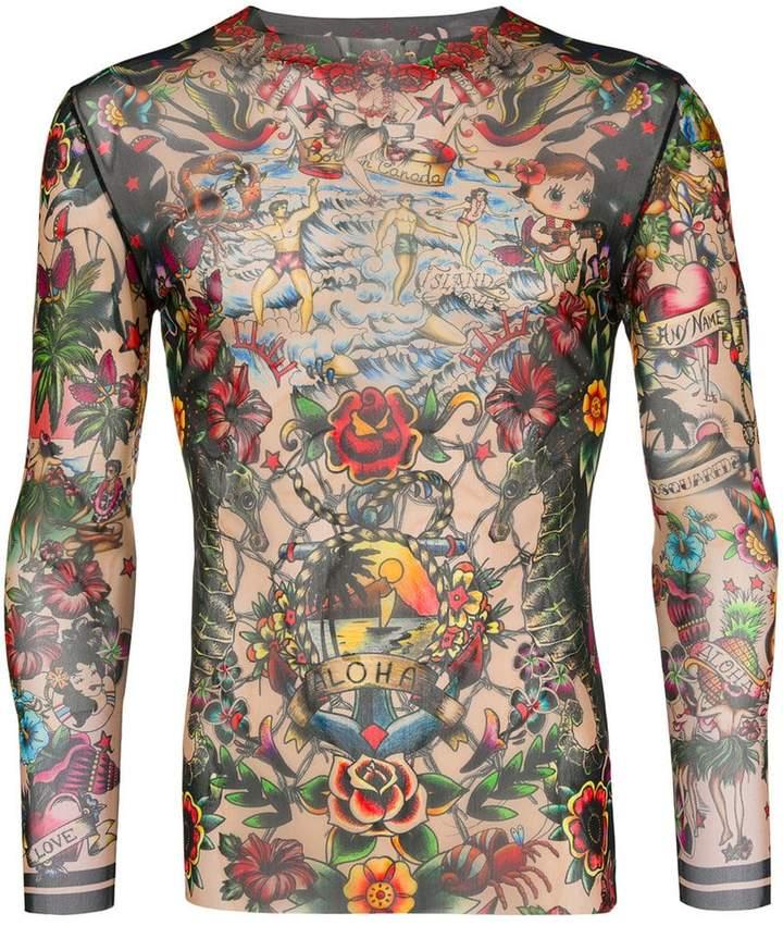 DSQUARED2 Aloha printed top