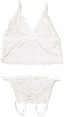 Coquette Women's Plus Size Bralette and Crotchless Panty