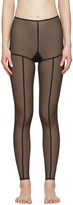 Ann Demeulemeester Black la fille d'O Edition Tulle Leggings
